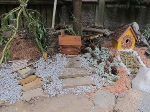 """After"" picture of the fabulous Fairy Garden"